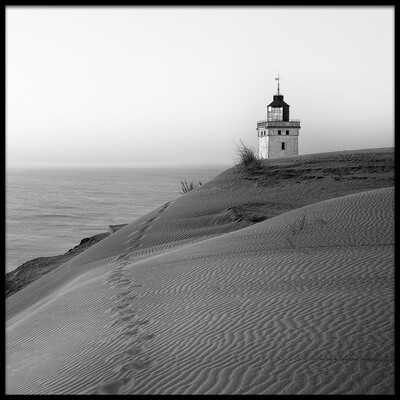 Art print titled Traces at the Lighthouse by the artist Leif Løndal