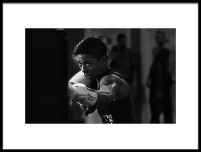 Art print titled Training Fighter by the artist Henry Zhao