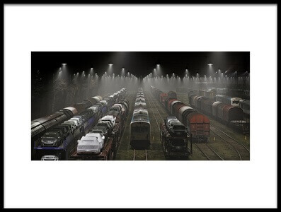 Art print titled Trainsets by the artist Leif Løndal
