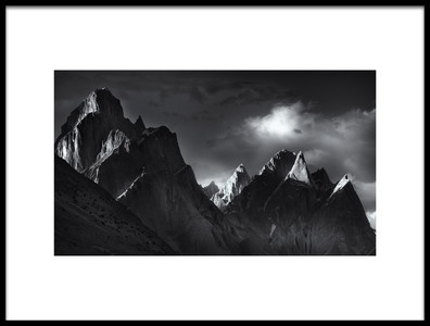Art print titled Trango Towers by the artist FEI SHI