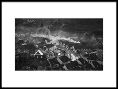 Art print titled Transylvanian Village by the artist Sebastiæn