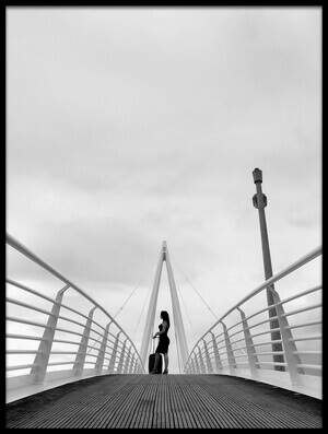Art print titled Travel Over the Bridge by the artist Paulo Medeiros