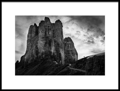Art print titled Tre Cime Tear of Snow by the artist Franco Ameli