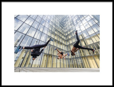 Art print titled Tricking With Ahmed Chouikhi, Mehdi Harhad Amp Kvin Ctout by the artist Tristan Shu
