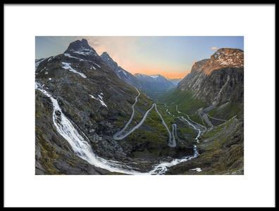 Art print titled Trollstigen by the artist Christer Olsen