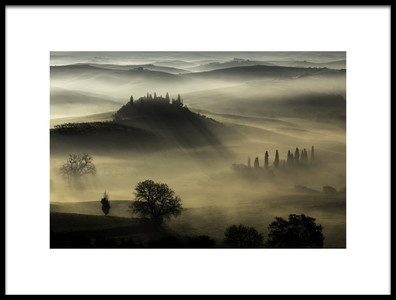Art print titled Tuscany by the artist daniel penciuc