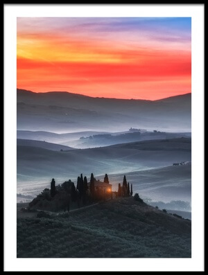 Art print titled Tuscany by the artist Joaquin Guerola