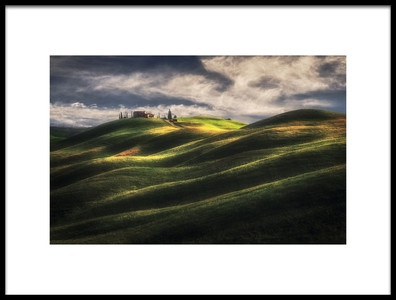 Art print titled Tuscany Sweet Hills by the artist Massimo Cuomo