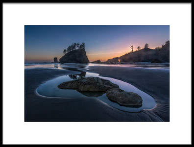 Art print titled Twilight at Second Beach by the artist Donald Luo
