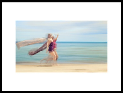 Buy this art print titled Two Women On Beach 5 by the artist Holger Nimtz
