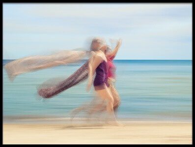 Buy this art print titled Two Women On Beach #5 by the artist Holger Nimtz