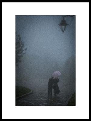Art print titled Under a Pink Umbrella by the artist Ramiz Şahin