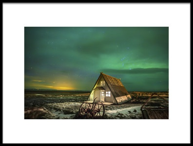 Art print titled Under Green Skies by the artist John Dekker
