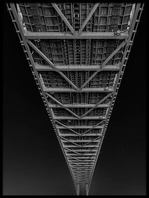 Art print titled Under the Bridge by the artist Tomoshi Hara