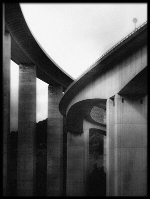 Art print titled Under the Bridges by the artist Olavo Azevedo