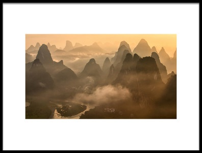 Art print titled Under the Mountain by the artist Gunarto Song