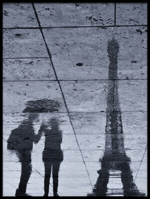 Buy this art print titled Under the Rain In Paris by the artist Philippe-M