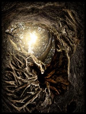 Art print titled Under the Trees #1 by the artist Matthias Bergolth
