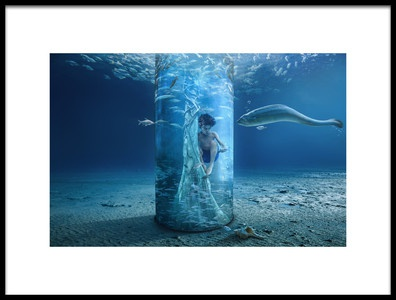 Art print titled Underwater by the artist sulaiman almawash