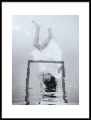Art print titled Underwater Love by the artist Gina Buliga