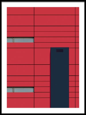 Buy this art print titled University  Abstract by the artist jan niezen