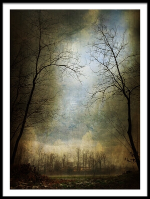 Buy this art print titled The Darkness Begins by the artist Inna Blar Ross