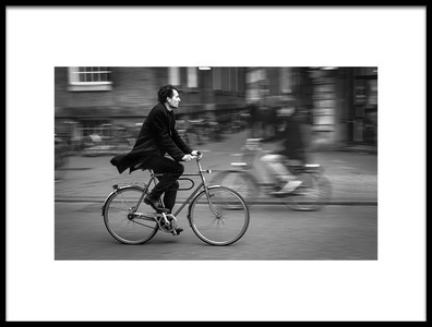Art print titled Urban Cyclist Amsterdam Series by the artist luisfer