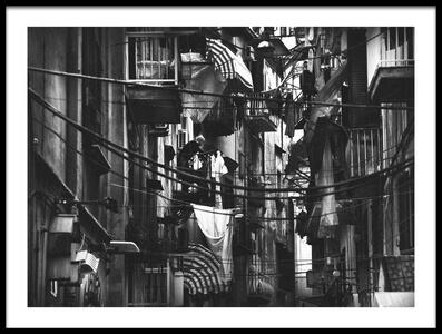 Art print titled Urban Laundry by the artist Antonio Grambone