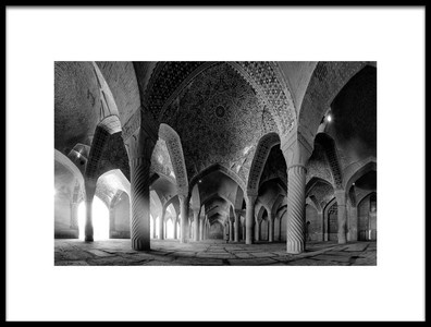 Buy this art print titled Vakil Mosque by the artist farshad boroomand