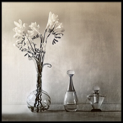 Buy this art print titled Vase and Perfume by the artist Elena Arjona