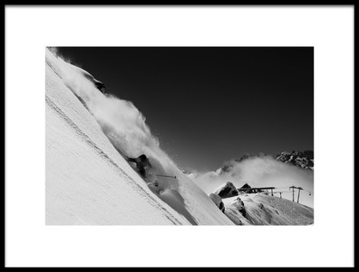 Art print titled Verbier by the artist Jakob Sanne