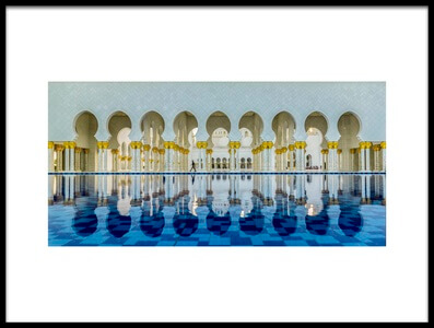 Art print titled View from AbuDhabi GrandMosque by the artist Ahmed ElSheikh