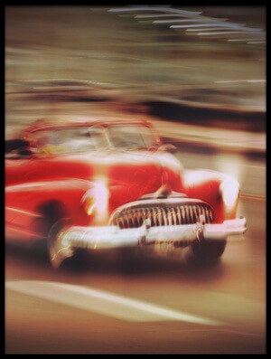 Art print titled Vintage Car,Havana Fantasy by the artist Svetlin Yosifov