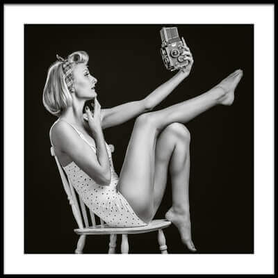 Buy this art print titled Vintage Selfie by the artist Rod Clemen