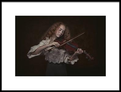 Art print titled Violin Girl by the artist Carola Kayen-Mouthaan