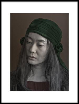 Art print titled Visage Dune Femme by the artist Fuyuki Hattori