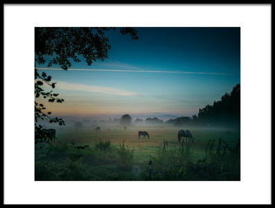 Art print titled Vor Dem Sonnenaufgang by the artist Arne Jansen