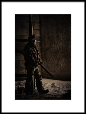 Art print titled Waiting by the artist Claude Brazeau