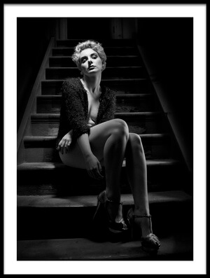 Art print titled Waiting In the Noir by the artist PAUL BAYBUT