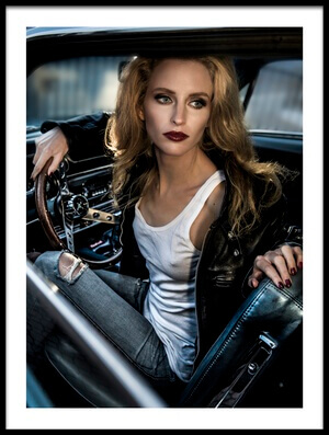 Buy this art print titled Waiting to Reverse My 69' Ford Mustang by the artist Peter Müller Photography