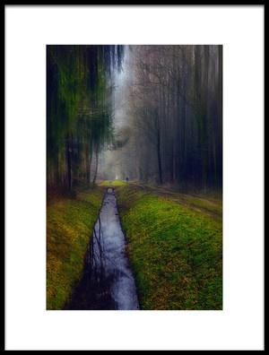 Art print titled Walk Alone  Last Walk by the artist Stefan Kierek