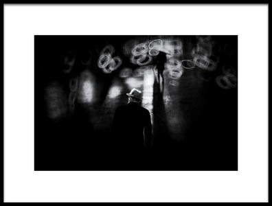 Art print titled Walk at Night by the artist Teruhiko Tsuchida