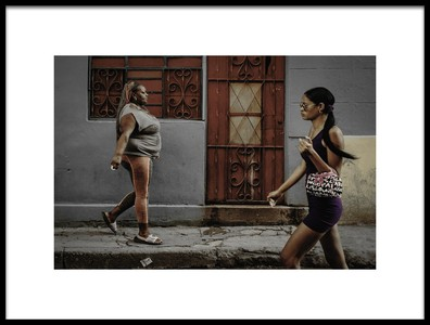 Art print titled Walking by the artist Andreas Bauer