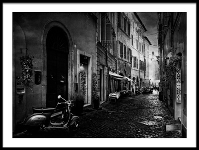 Art print titled Walking Along Rome by the artist Jose C. Lobato