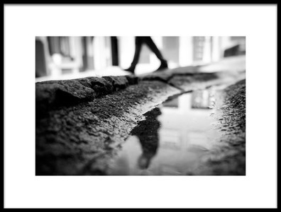 Art print titled Walking By by the artist Nelson Gonçalves