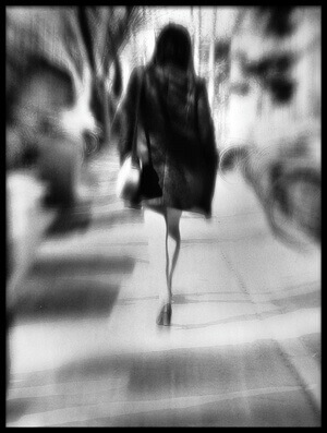 Buy this art print titled Walking Down the Street by the artist monoradio