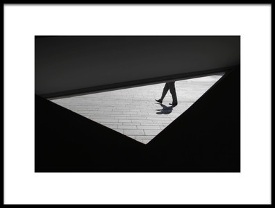 Art print titled Walking In a Triangle by the artist Sara-le Elbar