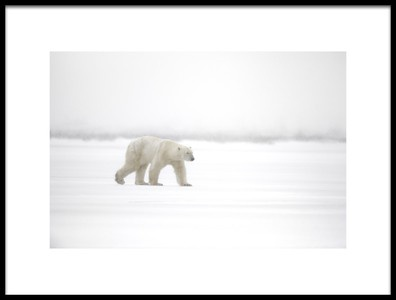 Art print titled Walking In the Snow by the artist Marco Pozzi
