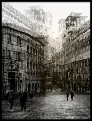 Buy this art print titled Walking In the Square by the artist Carmine Chiriacò