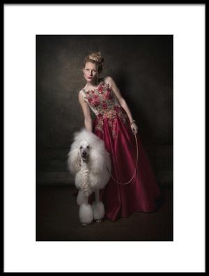 Art print titled Walking My Dog by the artist Carola Kayen-Mouthaan